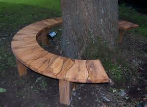 Green Outdoor Bench Tree Seat Curved Garden Bench Oak Bench Made For Gardens