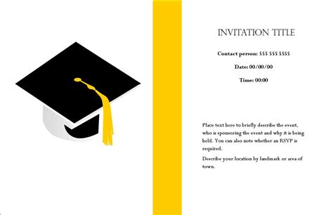 Graduation Card Template Docs by Comely Graduation Cap With Graduation Invitation