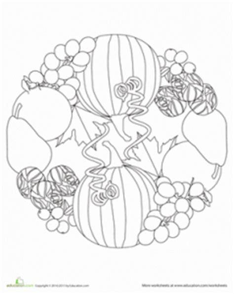 printable turkey mandala fruit and vegetable mandala coloring page crafts and