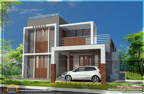 home design for house small double storied contemporary house plan kerala home