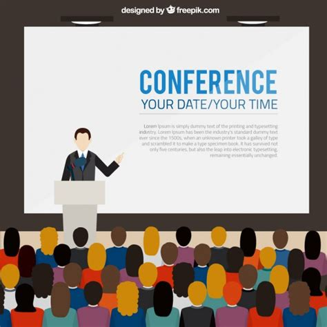 design banner congress conference banner template vector free download