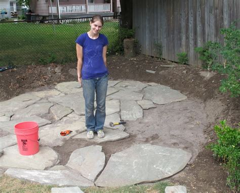 how to lay a flagstone patio merrypad