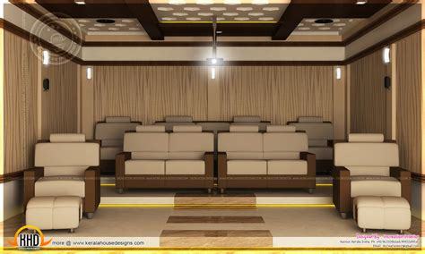 house plans with home theater home theater bedroom and dining interior kerala home design and floor plans