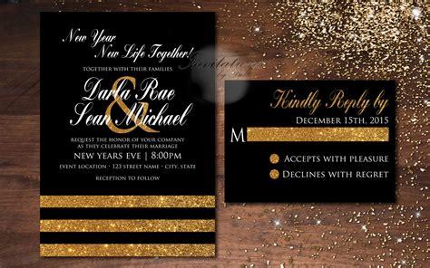 New Years Wedding Invitations
