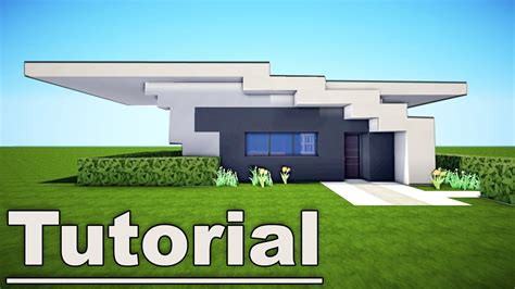 minecraft modern house tutorial how to build a modern house in minecraft pe tutorial