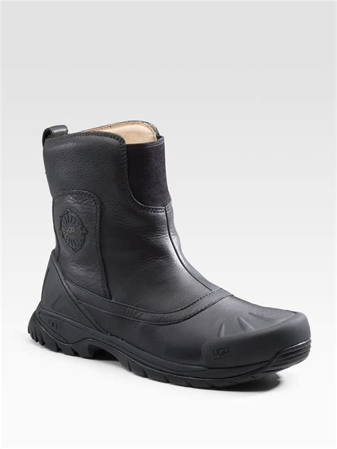 ugg brantling leather boots in black for lyst