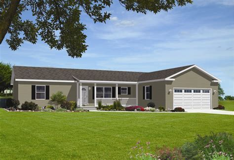 manufactured homes with garage