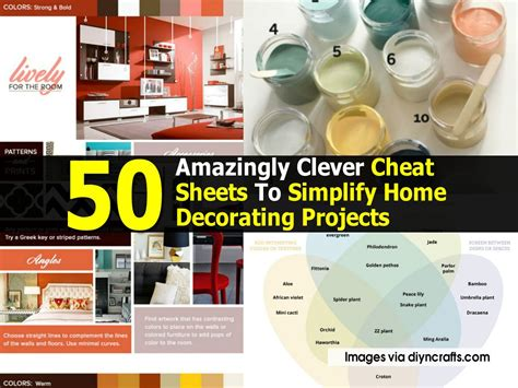 simplify home decor 50 amazingly clever sheets to simplify home decorating projects