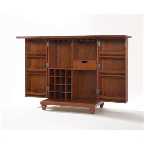 crosley cambridge bar cabinet crosley furniture cambridge expandable home bar cabinet in