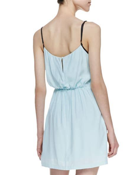 light blue tank dress bromley side gathered tank dress light blue