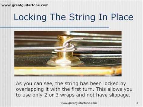 String Tips - killer guitar tone tips for string winding