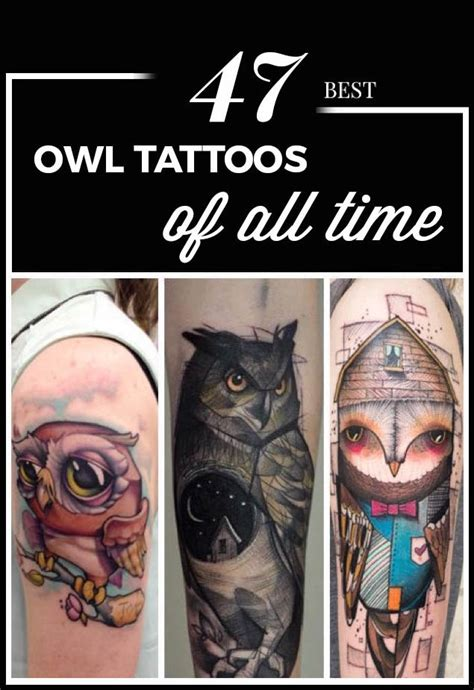 best tattoos of all time 47 best owl tattoos of all time tattooblend