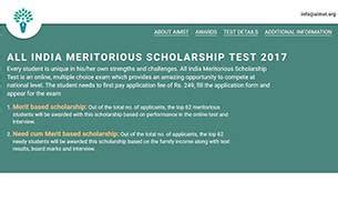 Scholarship Exams For Mba In India by All India Meritorious Scholarship To Test Mettle Of