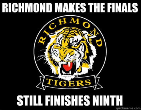 Richmond Memes - richmond makes the finals still finishes ninth misc