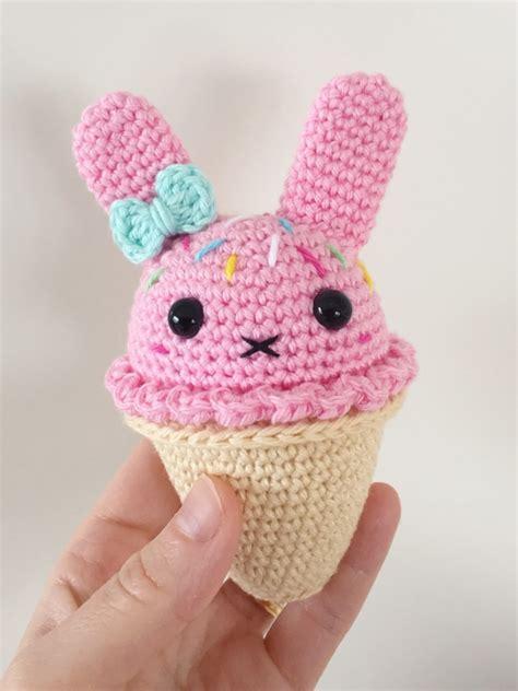 bunny ice cream amigurumi pattern amigurumipatternsnet
