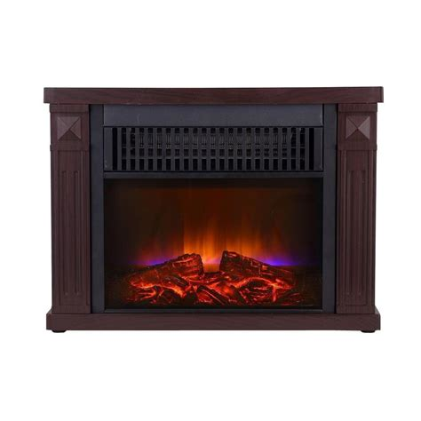 Mini Fireplace by Global Air Products 1200 Watt Cherry Color Mini Fireplace