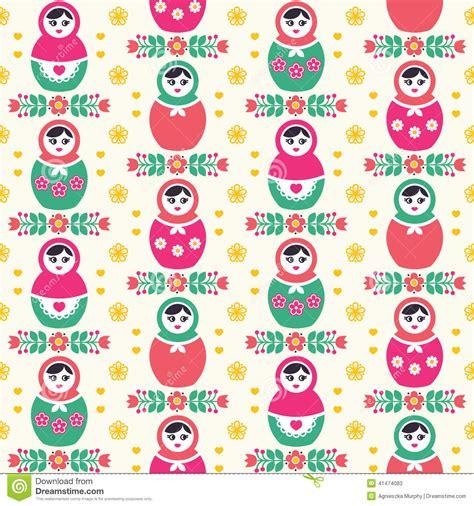 russian doll design wallpapers russian doll matryoshka folk seamless pattern stock