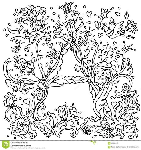 z coloring book for and adults 40 illustrations books pattern for coloring book letter a stock vector image
