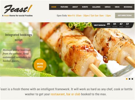 themes wordpress free food 20 attractive themes for cafes and food businesses wp solver