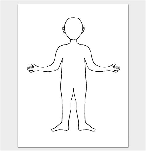 Human Body Outline Template 32 Printable Worksheets Boy And Outline Template
