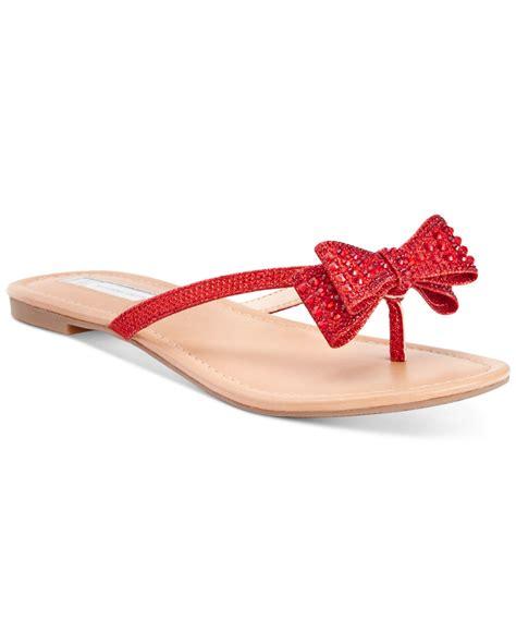 lyst inc international concepts malissa rhinestone bow flat sandals in