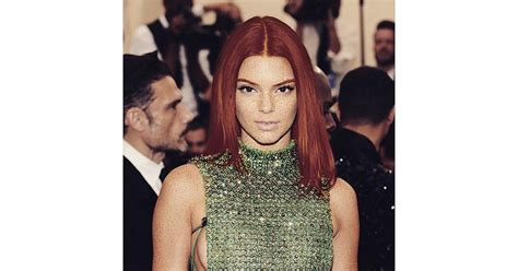 female celebrities with red pubic hair kendall jenner red kendall jenner celebrities get epic makeovers with red