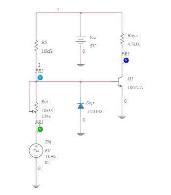 diode connected bjt resistance circuits multisim live