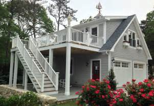 garage apartment plans with deck