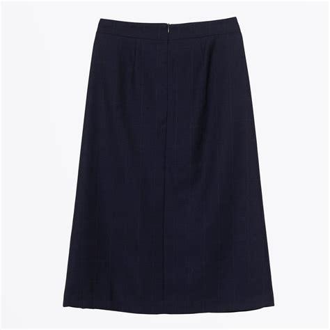 Checker Skirt munthe jude check skirt indigo mr mrs stitch
