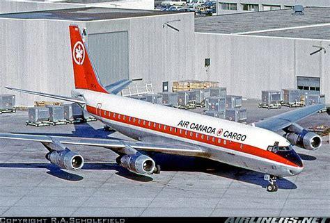 air canada cargo douglas dc 8 54 f cf tjl at toronto international november 1973 this is a