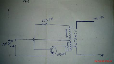single transistor flyback driver a doubt on my single transistor flyback driver page 1