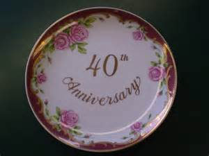 40th anniversary plates lefton china 40th anniversary plate by alleycatgarage on etsy