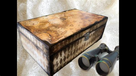 Decoupage Tutorial Wood - decoupage tutorial paper on wooden box