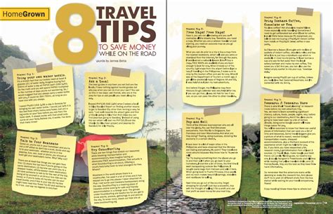 Money Saving Travel Tips For January 2007 8 travel tips to save money while on the road journeying