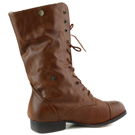 lace up combat boots lace up fold toe combat boot ebay
