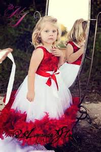 red and white feather flower girl dresses girls christmas