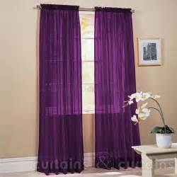 purple slot top voile net curtain panel curtains and