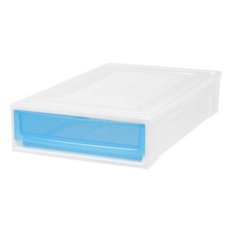 home depot under bed storage iris 17 375 in x 5 875 in under bed box chest drawer