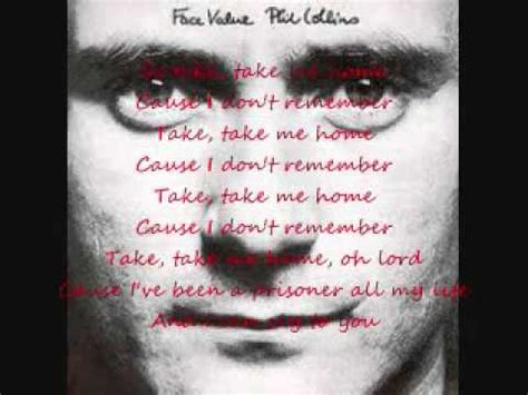 phil collins take me home lyric