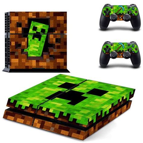 minecraft console ps3 minecraft decal for ps4 console skin sticker decal