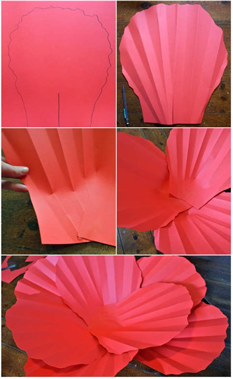 How To Make Large Paper - paper flowers 183 how to make a flowers rosettes