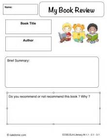 Lesson Plans For Writing Book Reviews by Book Review Forms For High School Easy Book Report Form For Readerstos 2010 Homeschool