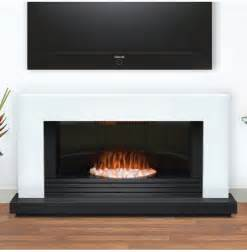 Contemporary Electric Fireplace Daytona Contemporary White And Graphite Electric Suite Select Fireplaces