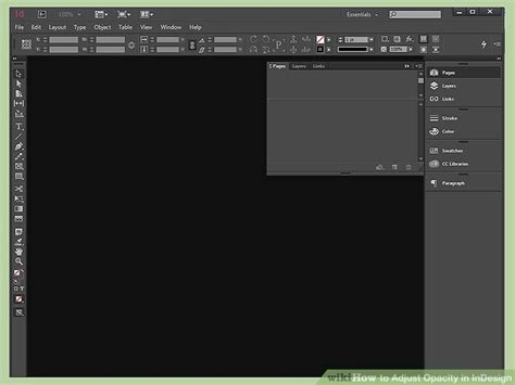 layout adjustment indesign cc how to adjust opacity in indesign 8 steps with pictures