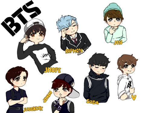 bts anime pictures bts chibi fan pictures to pin on pinsdaddy
