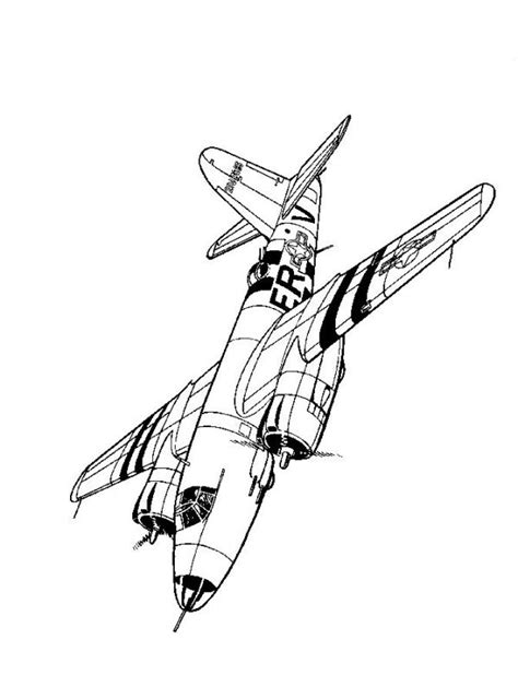 Kids-n-fun.com | 46 coloring pages of WWII Aircrafts P 47d Thunderbolt