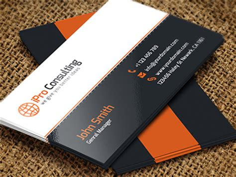 free psd: ipro consulting business cards by arslan dribbble
