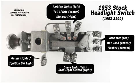 1950 chevy truck headlight switch wiring diagram wiring