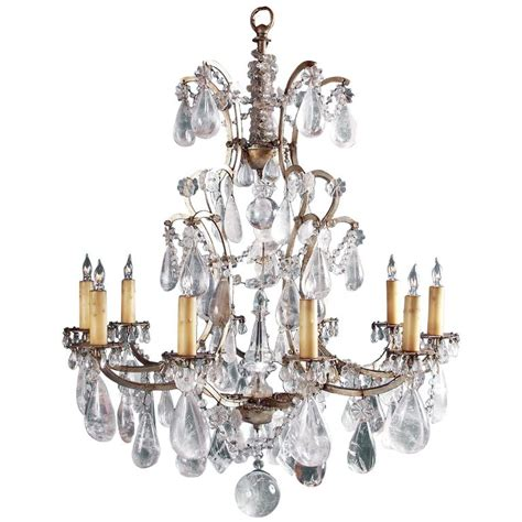 Rock Chandeliers 19th Century Rock Crystal Chandelier Surface Wired For
