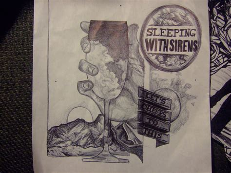 album artwork sketch pen sketch of sleeping with sirens album by